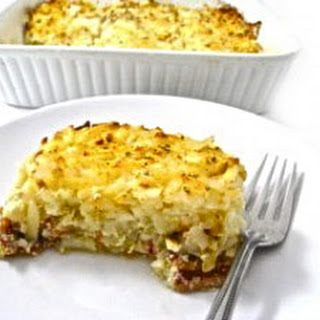 Skinny Hash Browns, Bacon and Eggs Breakfast Casserole.