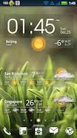Screenshot of EZ Clock & Weather Widget