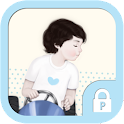 Cute love boy protector theme icon