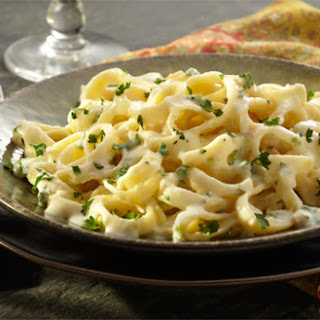Fettuccine with Herbed Cheese Sauce.