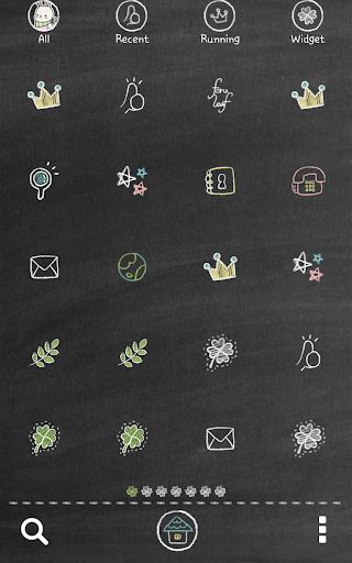 玩漫畫App|럭키클로버(칠판낙서)도돌런처테마免費|APP試玩