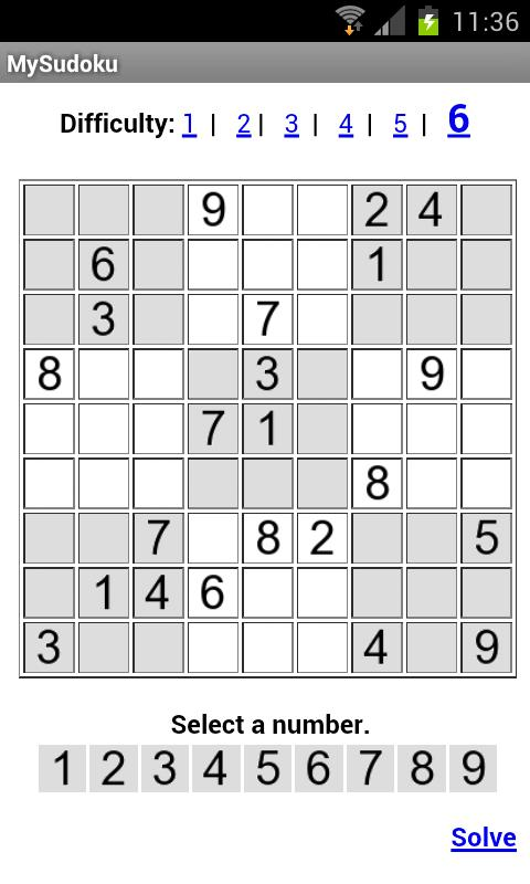 MySudoku- screenshot