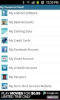 Screenshot of eVault Lite