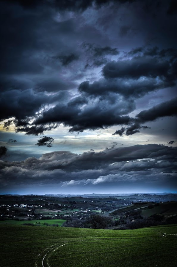 a cloudy day... by Frans Scherpenisse - Landscapes Cloud Formations ( hills, weather, c;ouds )