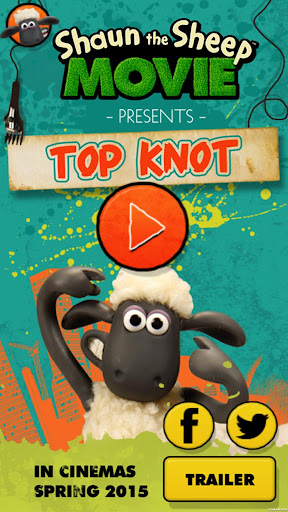 Shaun the Sheep Top Knot Salon