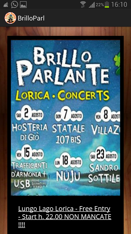 Il Brillo Parlante- screenshot