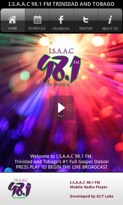 ISAAC 98.1 FM Radio- screenshot