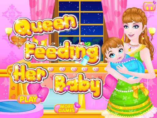 餵養寶寶的遊戲女王