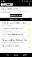 Screenshot of FanChants Free Football Songs