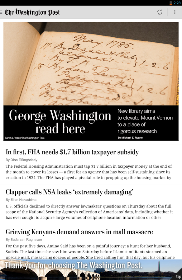 The Washington Post - screenshot