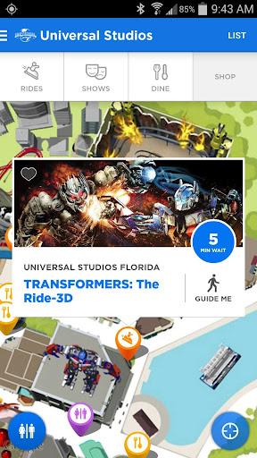 Universal Orlando® Resort App Screenshot