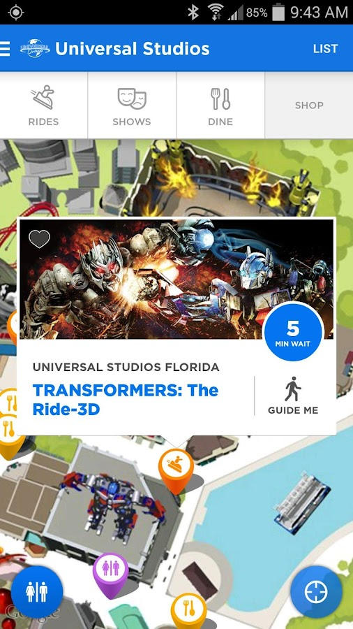 Universal Orlando® Resort App - screenshot