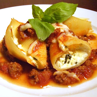 Ricotta Stuffed Shells.