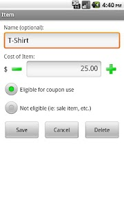 Mega Coupon Calculator screenshot 2