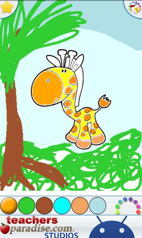 Jungle Animals Coloring Book- screenshot
