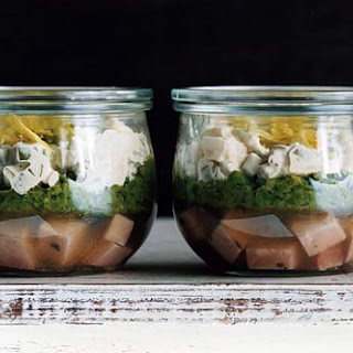 Ham Persillade with Mustard Potato Salad and Mashed Peas