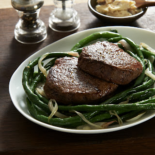 Tim Love's Balsamic Tenderloin and Long Beans.