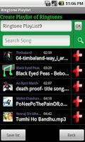 Screenshot of Ringtone Playlist Lite 8japps