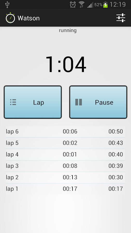 Watson Stopwatches and Timers - screenshot