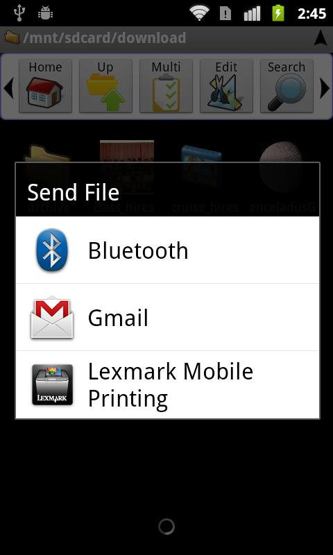 Lexmark Mobile Printing - screenshot