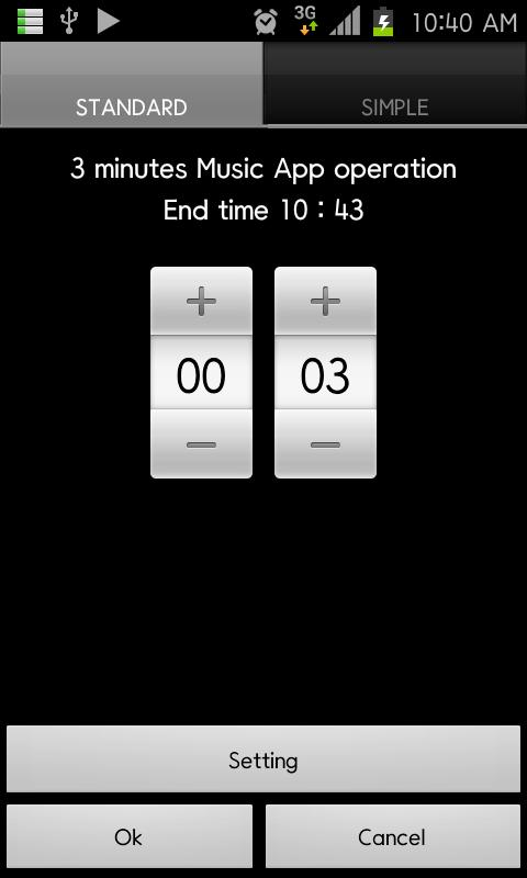 Music Timer Widget(Music off) - screenshot