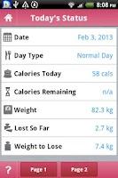 Screenshot of TrackMyFast 5:2 Diet