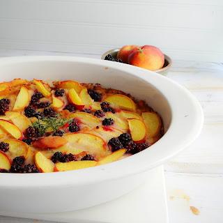 Blackberry Thyme Peach Cobbler.