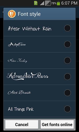 Stylish Fonts 1.14 screenshots 5