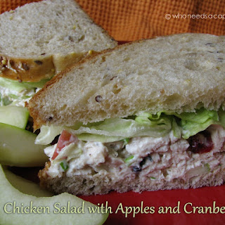 Chicken Salad with Apples and Cranberries.