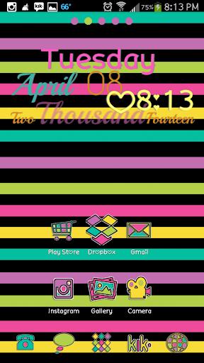 Color Mix Go Launcher Theme