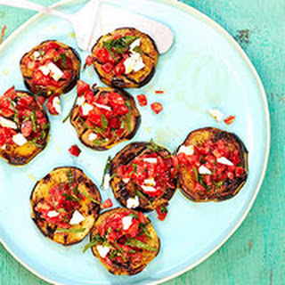 Smoky Grilled Eggplant with Spicy Tomato Topping.