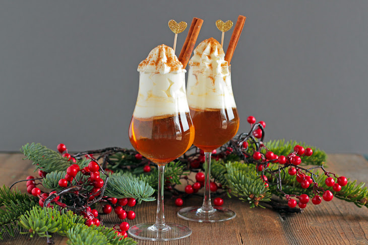 Hot Apple Amaretto Shot with Whipped Cream and Cinnamon Recipe