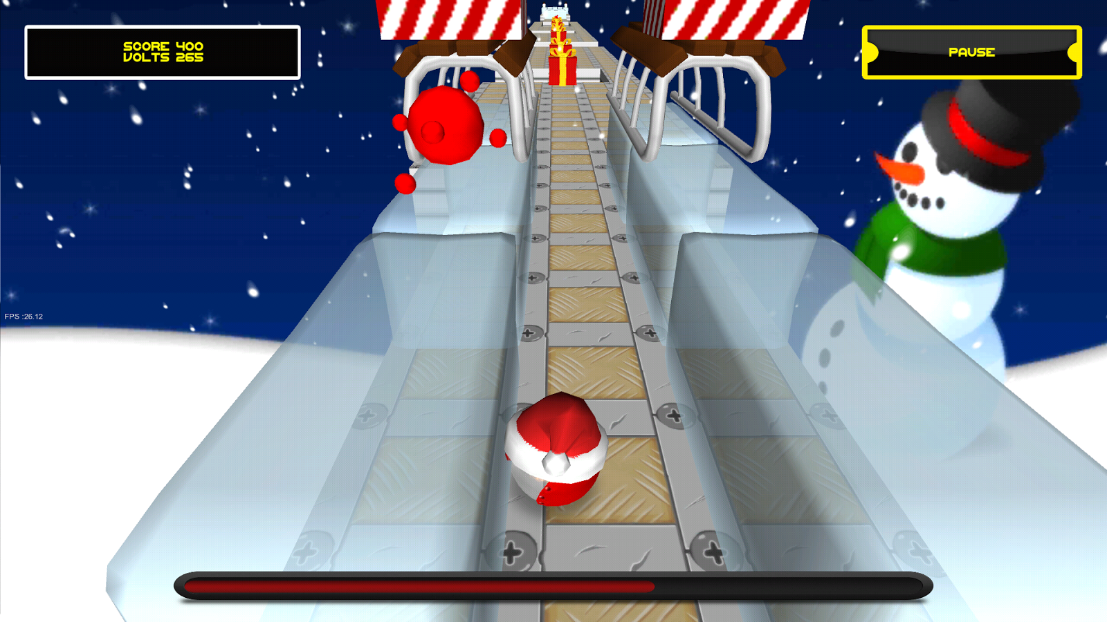 Jumping Electron Christmas- screenshot