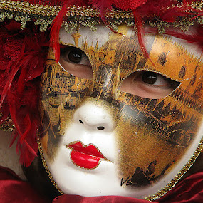 Carnival in Venice by Name of Rose - People Musicians & Entertainers ( mask carnival venice woman eyes face )