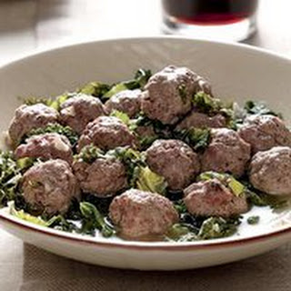 Kale and Mini Meatballs.