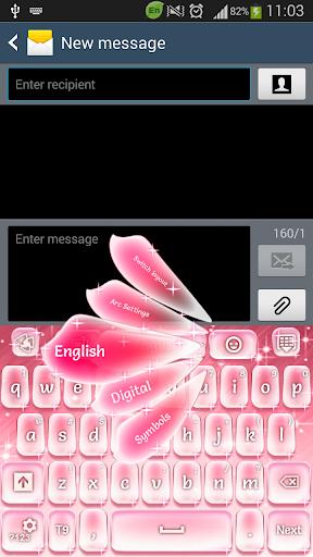 ピンクスパークルキーボード
