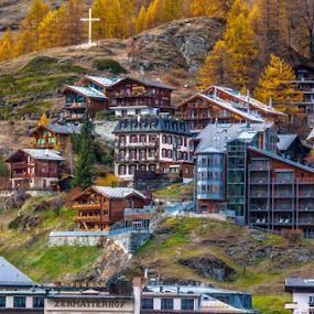 Switzerland (Zermatterhof) by Kean Low - City,  Street & Park  Neighborhoods ( holiday, mountains, places, landscapes, world )