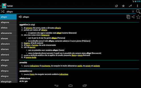 Italian Dictionary - Offline - screenshot thumbnail