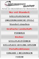 Screenshot of Meinwomo Wohnmobil Stellplätze