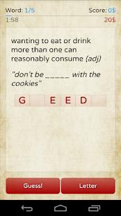 Red Words screenshot