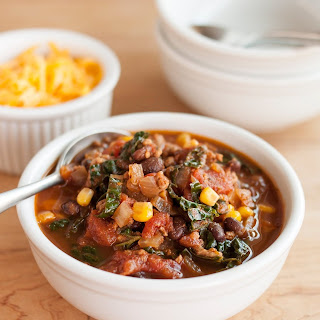 Easy Turkey Chili with Kale.