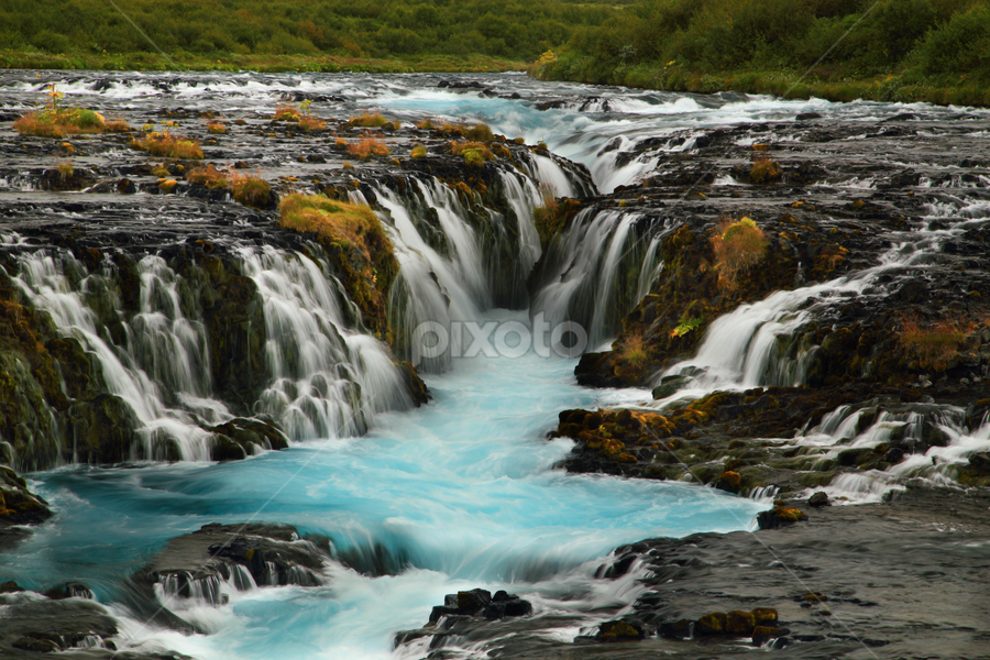 Glacier Waterfall by Roxie Crouch - Landscapes Waterscapes ( glacier, iceland, europe, blue, waterfall, Earth, Light, Landscapes, Views,  )