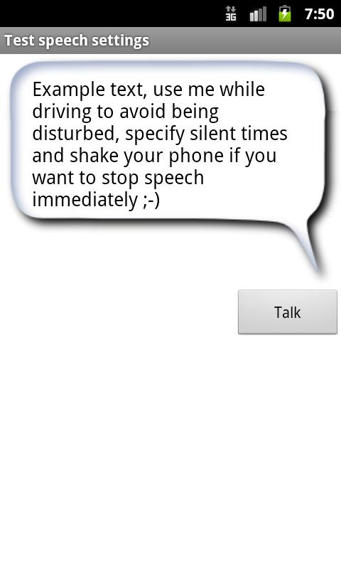 Textmessage Narrator- screenshot