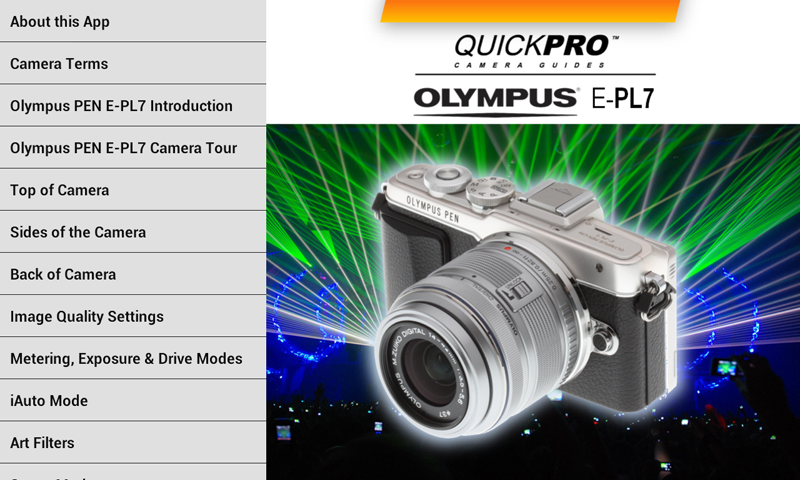 Olympus PEN E-PL7 by QuickPro- screenshot
