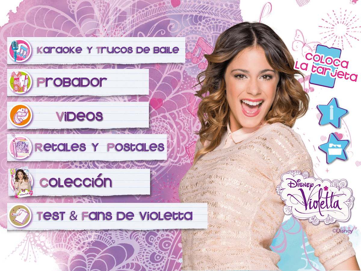 Violetta Digital Card - España- screenshot