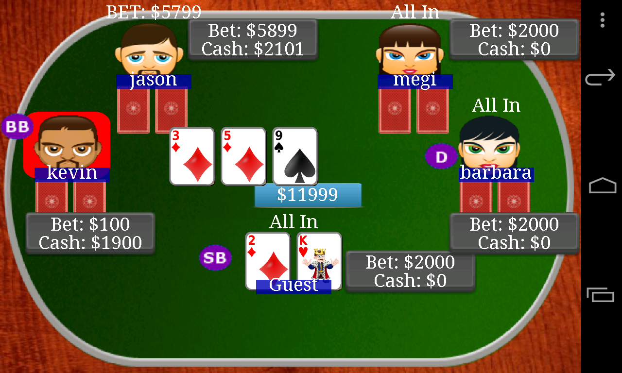 Texas Holdem Poker Bil- screenshot