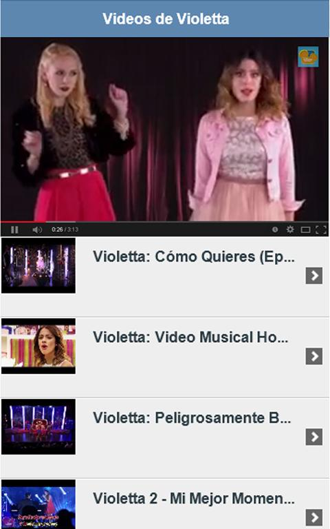 Videos de Violetta - screenshot