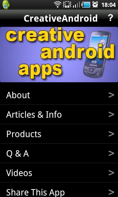 Creative Android Apps- screenshot