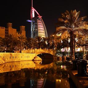 Souk Madinat Jumeirah (Burj Al Arab) @ night by Anthony Lawrence Gampon - Buildings & Architecture Office Buildings & Hotels ( burj al arab )