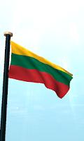 Screenshot of Lithuania Flag 3D Free
